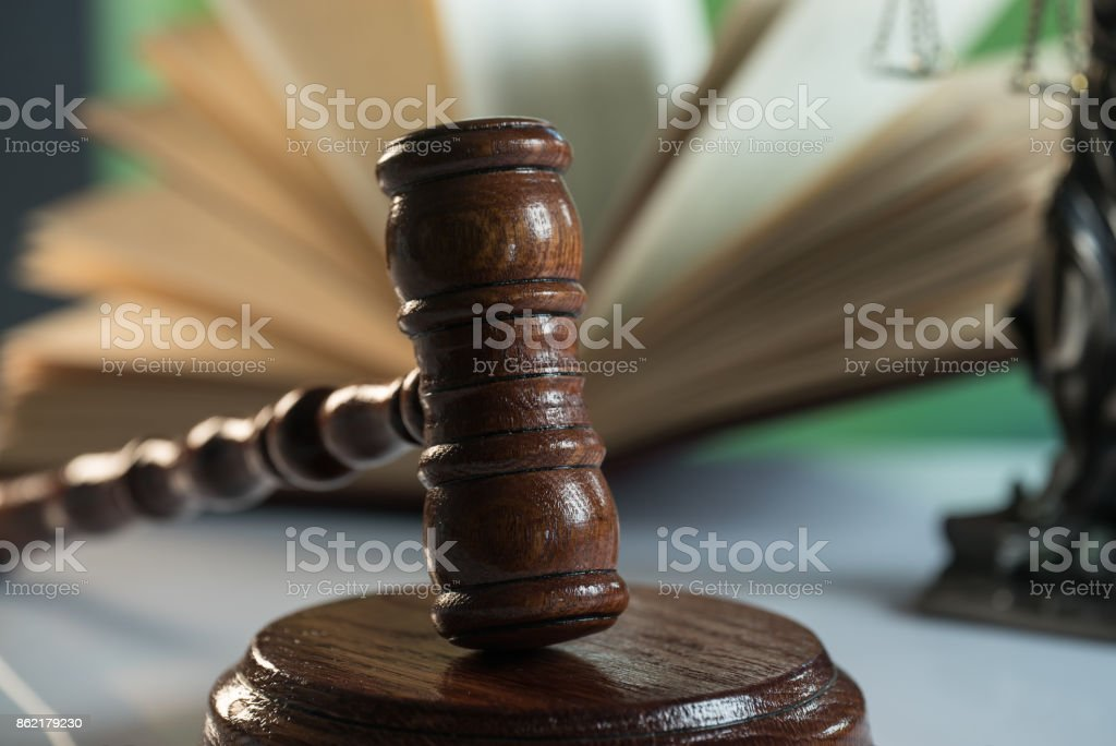 Law and Justice concept. stock photo
