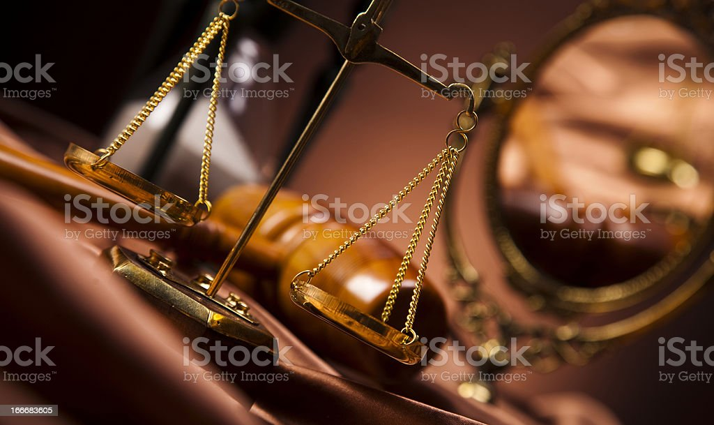 Law and justice concept, wooden gavel royalty-free stock photo