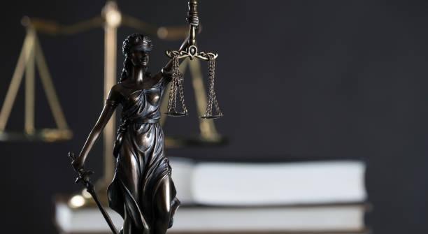 Tema de justicia y derecho - foto de stock