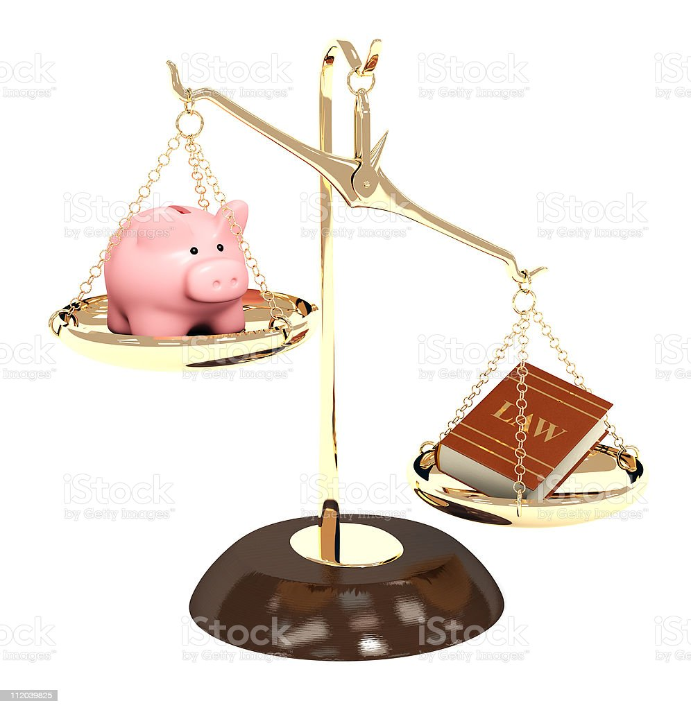 Law and money stock photo