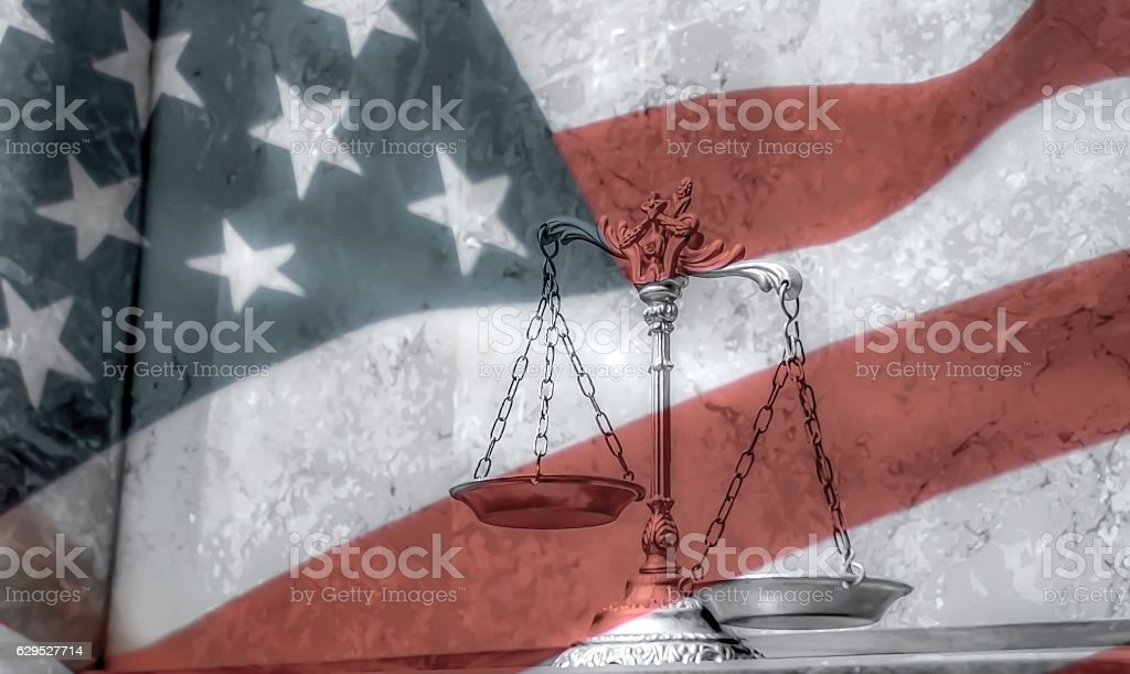 USA law and order stock photo
