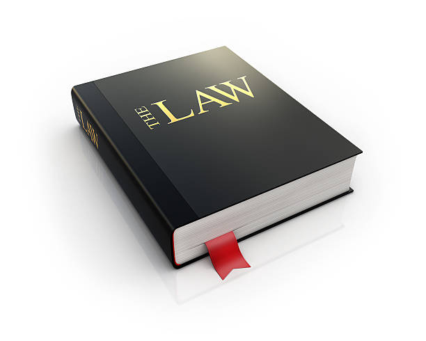 law book 3d icon stock photo