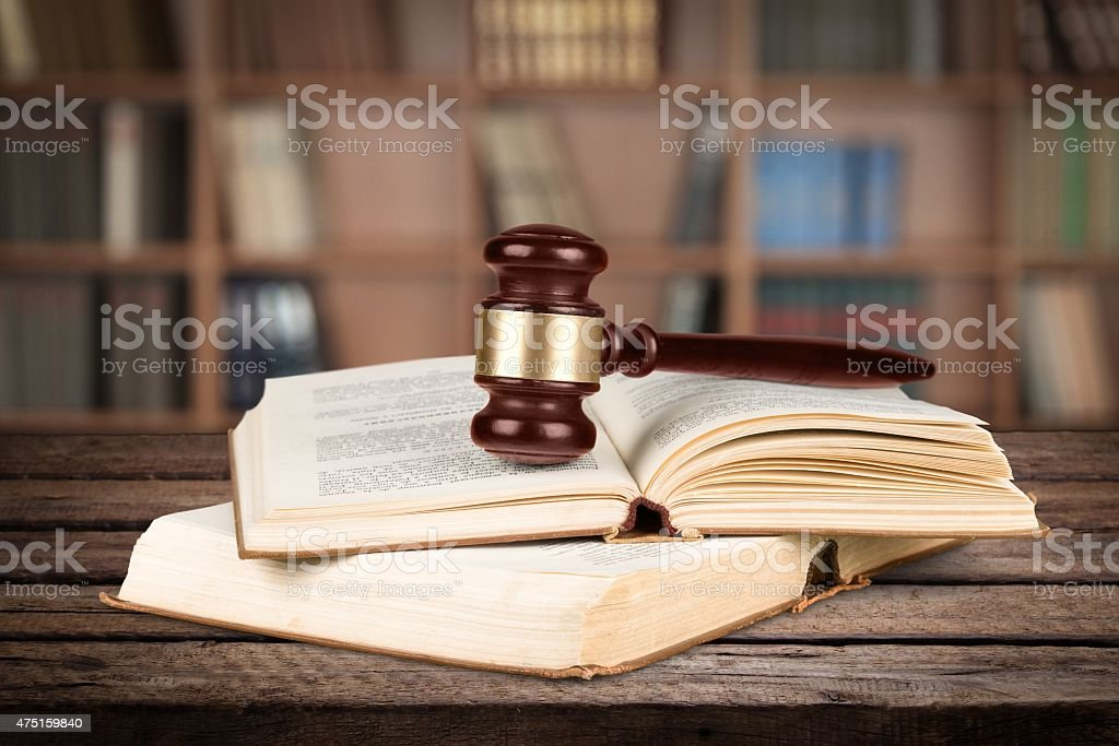Law, Book, Gavel stock photo