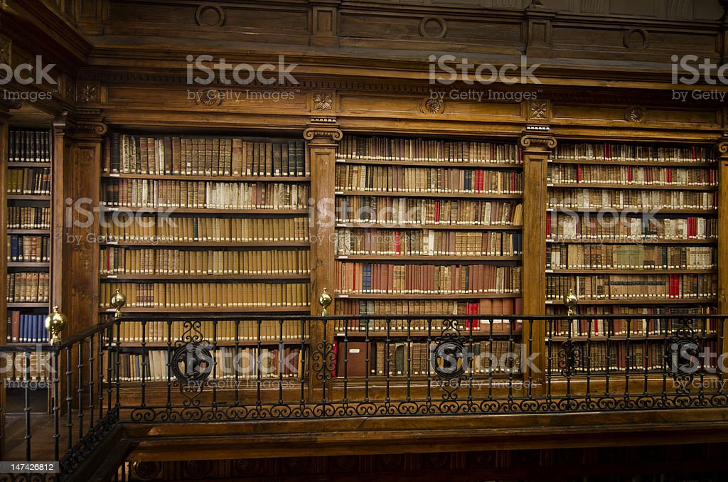 Law book library stock photo