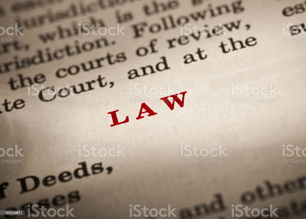 Law book royalty-free stock photo