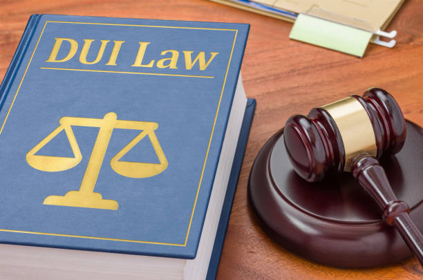 A law book with a gavel - DUI Law stock photo