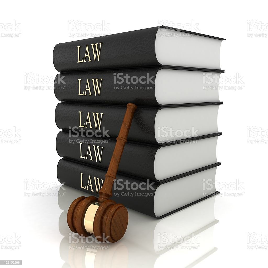 Law Books and Gavel royalty-free stock photo