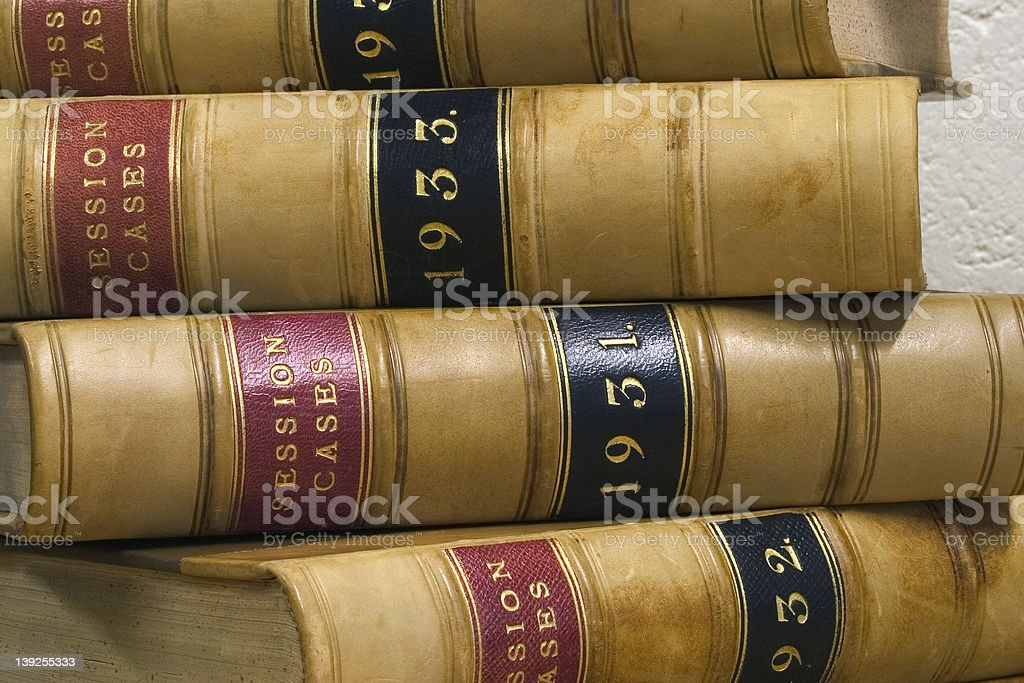 Law: Case Reports 1 royalty-free stock photo