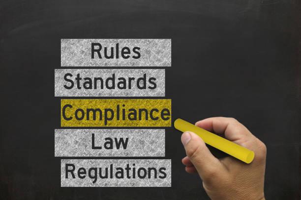 Gesetz Compliance Tafel zeichnen – Foto