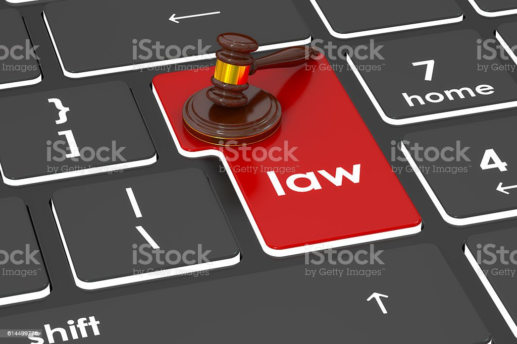 Law concept, 3D rendering stock photo