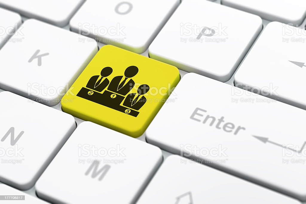Law concept: Business Team on computer keyboard background royalty-free stock photo