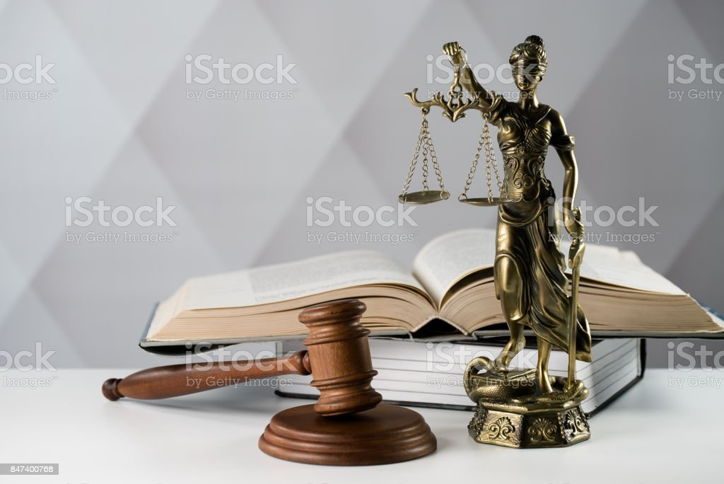 Law concept on bright background stock photo