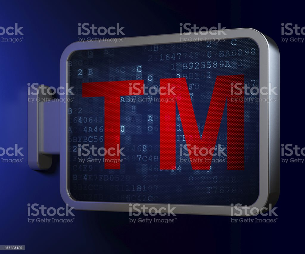 Law concept: Trademark on billboard background royalty-free stock photo