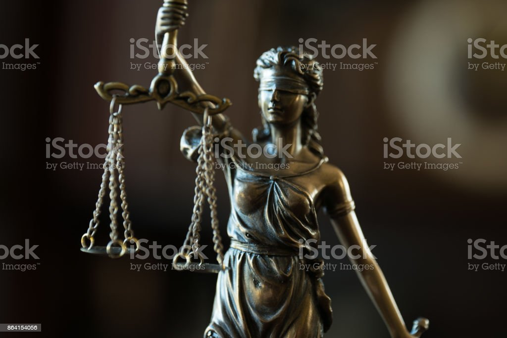 Law concept with Themis, symbol of justice. royalty-free stock photo
