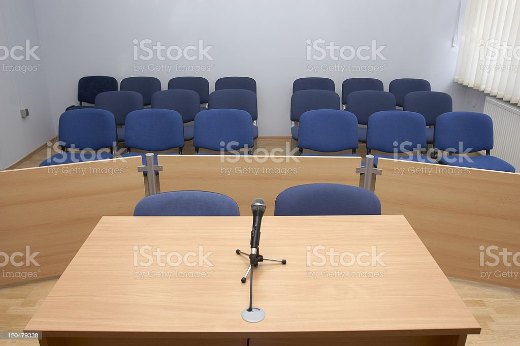 law court microphones stock photo