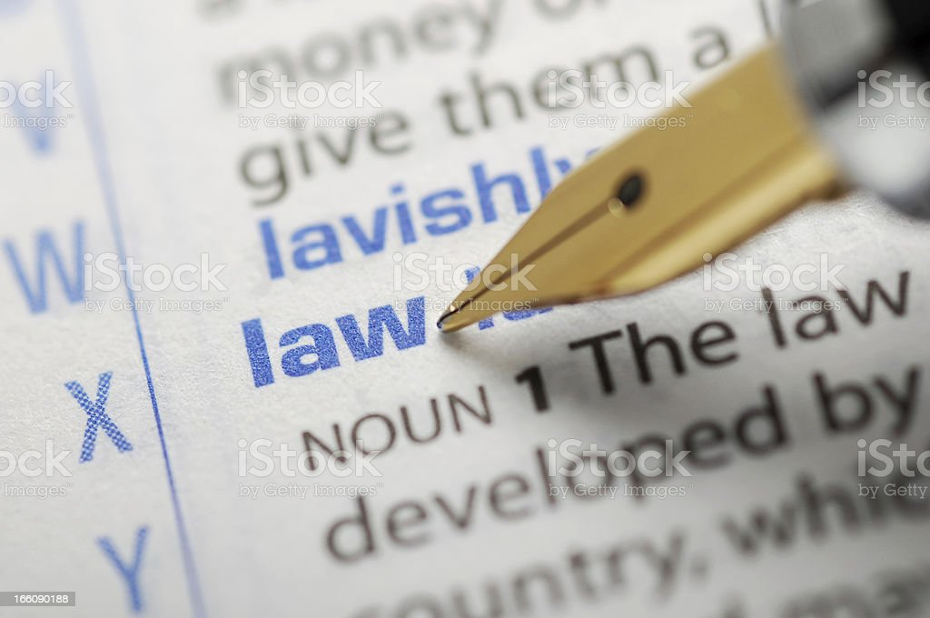 Law - Dictionary Series royalty-free stock photo