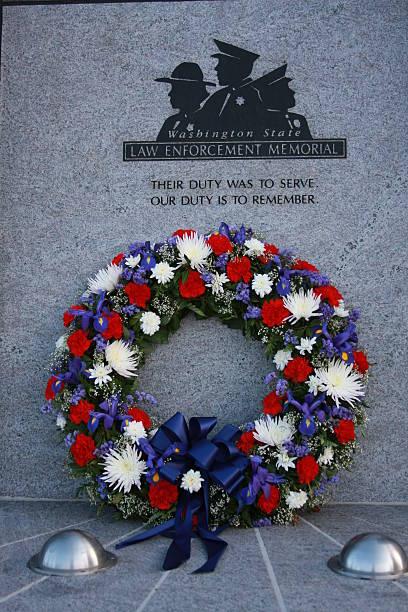 Law Enforcement Memorial stock photo