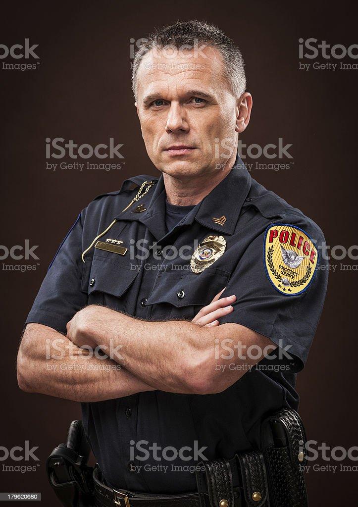 Law Enforcement Officer Portrait stock photo