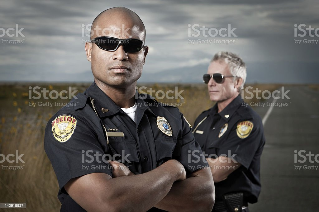 Law Enforcement-Tough Police Team stock photo