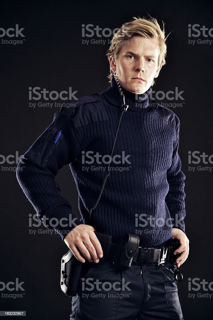 Law Enforcer Ensuring Our Protection Against Danger royalty-free stock photo