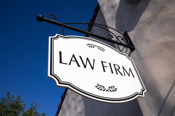 Law Firm Business Sign stock photo
