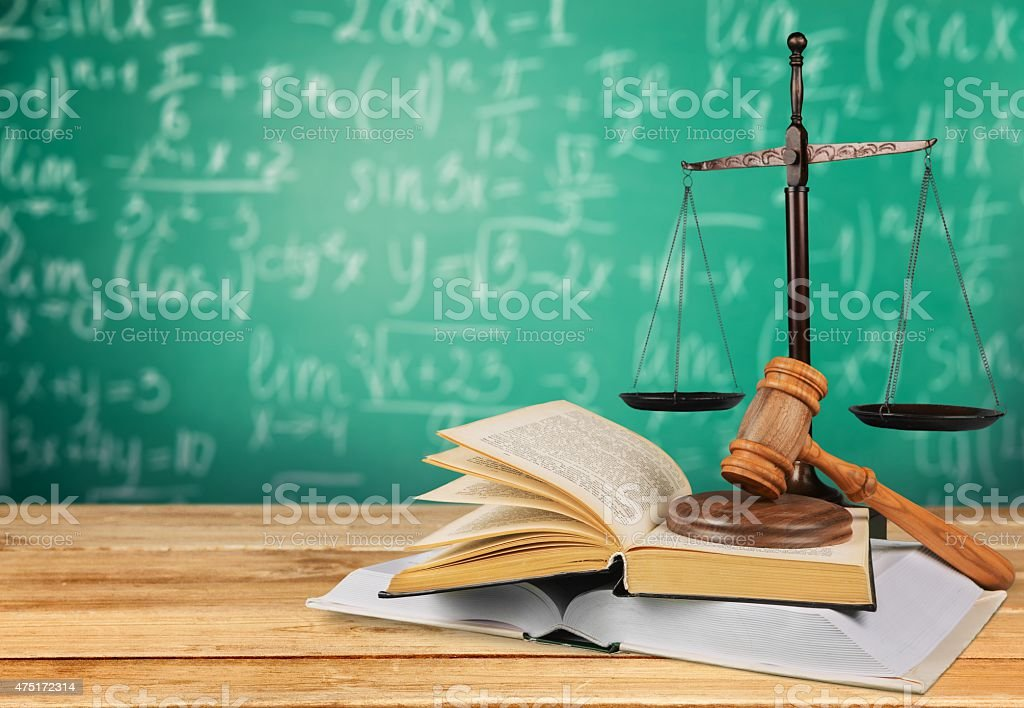 Law, Justice, Book stock photo