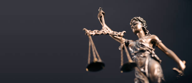 Law, legal, judge, lady justice concept stock photo