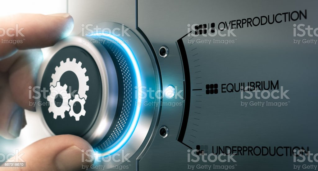 Law of Supply and Demand, Economics Equilibrium stock photo
