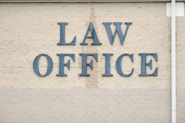 Law office sign stock photo