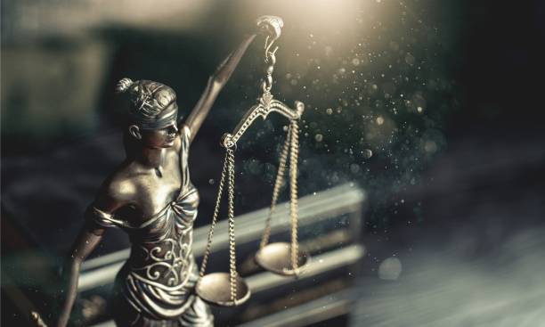 Law. Sculpture of Themis, mythological criminal stock pictures, royalty-free photos & images