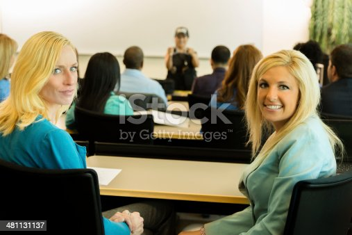 istock Law:  Policewoman speaks to police cadets or community. 481131137