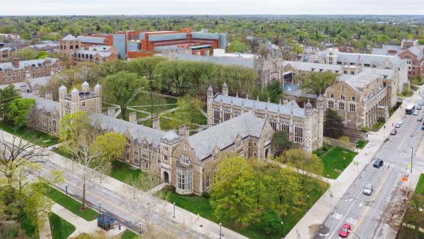 Law Quadrangle, University of Michigan University of Michigan Law School, public institution. ann arbor stock pictures, royalty-free photos & images