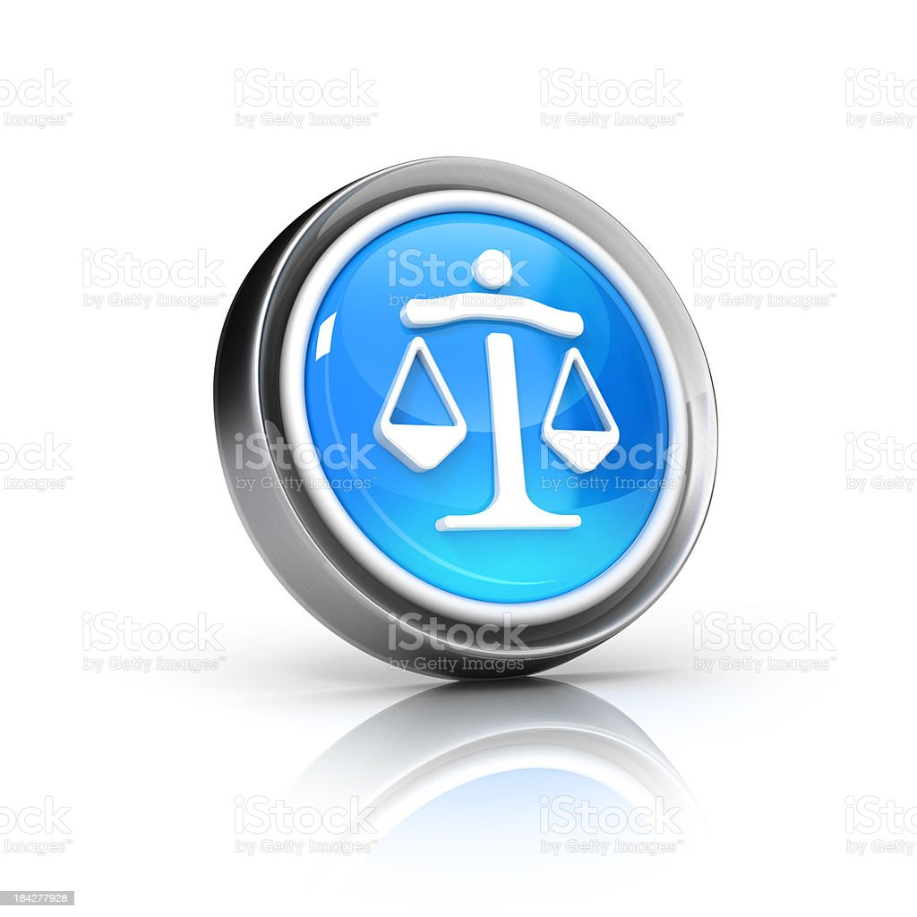 law scale icon royalty-free stock photo