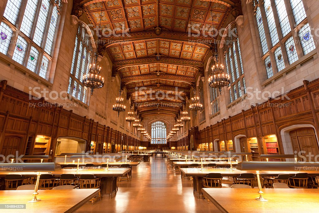 Law School Library, University of Michigan, Ann Arbor, MI stock photo