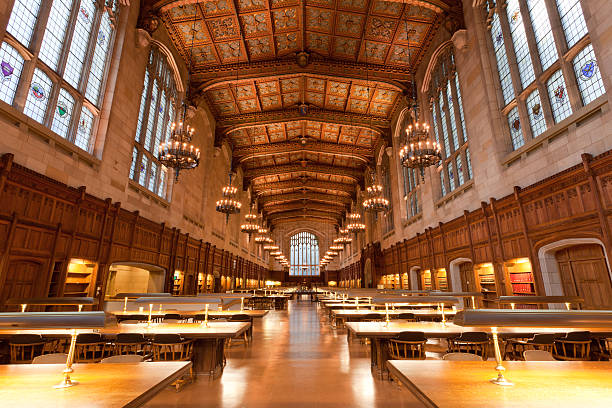Law School Library, University of Michigan, Ann Arbor, MI  ann arbor stock pictures, royalty-free photos & images