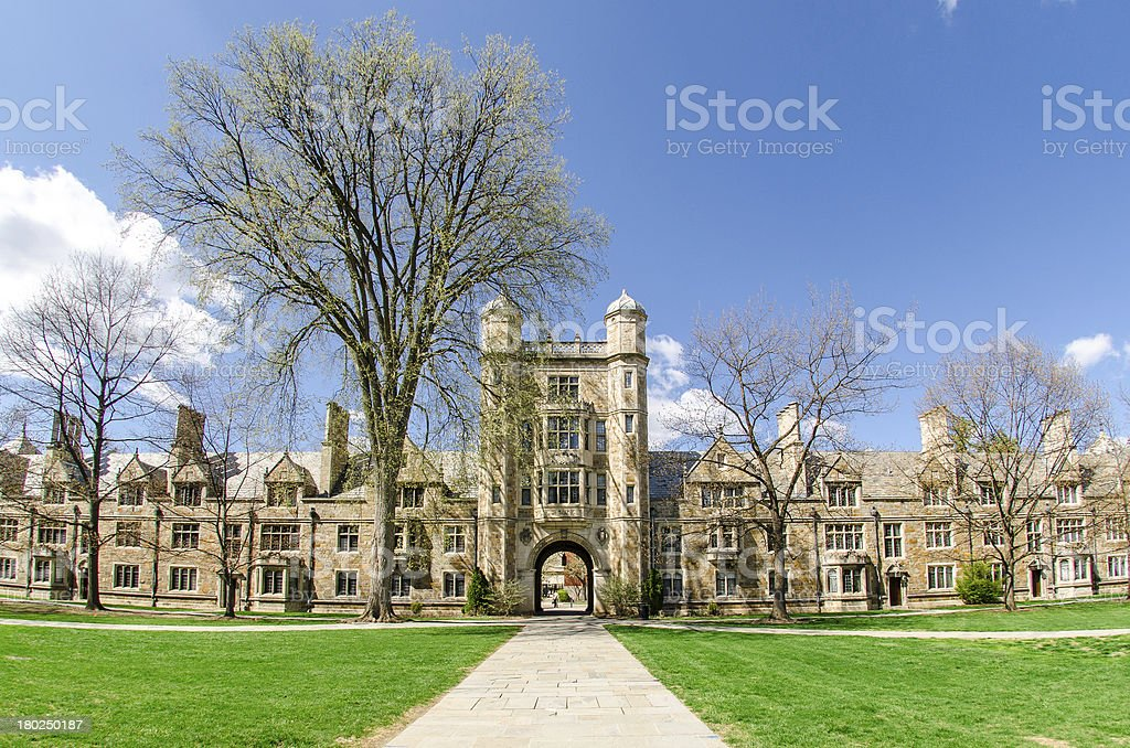 Law School Quadrangle, University of Michigan stock photo