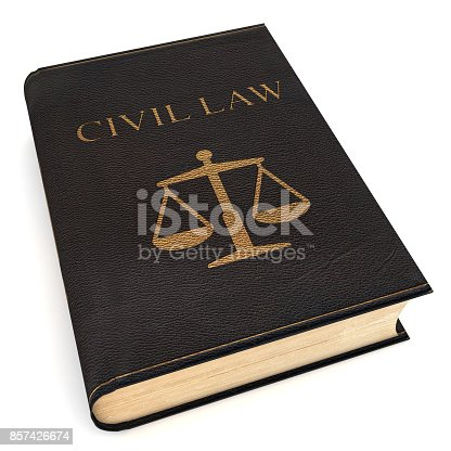 Law sign civil law book