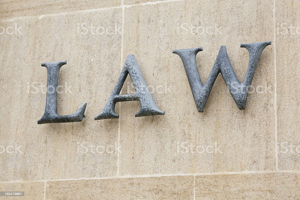 Law word royalty-free stock photo