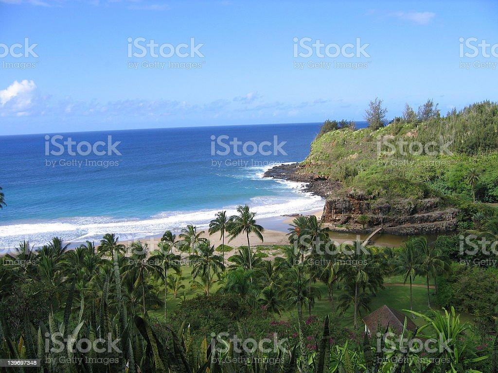 Lawai Bay, Koloa, Kauai, Hawaii stock photo
