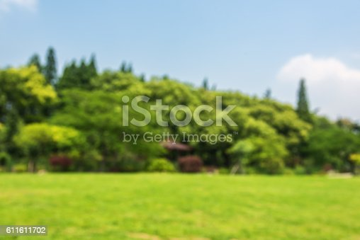 601026242istockphoto Lawn and forest defocused blurred abstract background 611611702