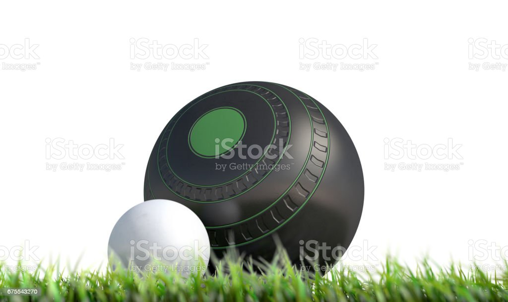 Lawn Bowl And Jack stock photo