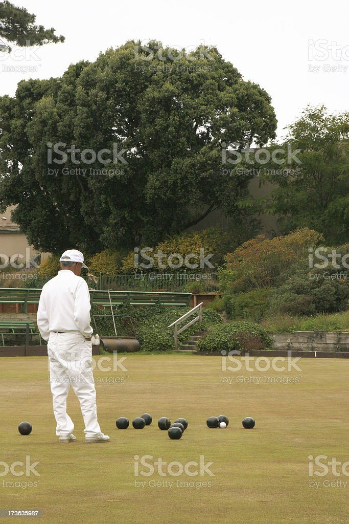 Lawn Bowler royalty-free stock photo