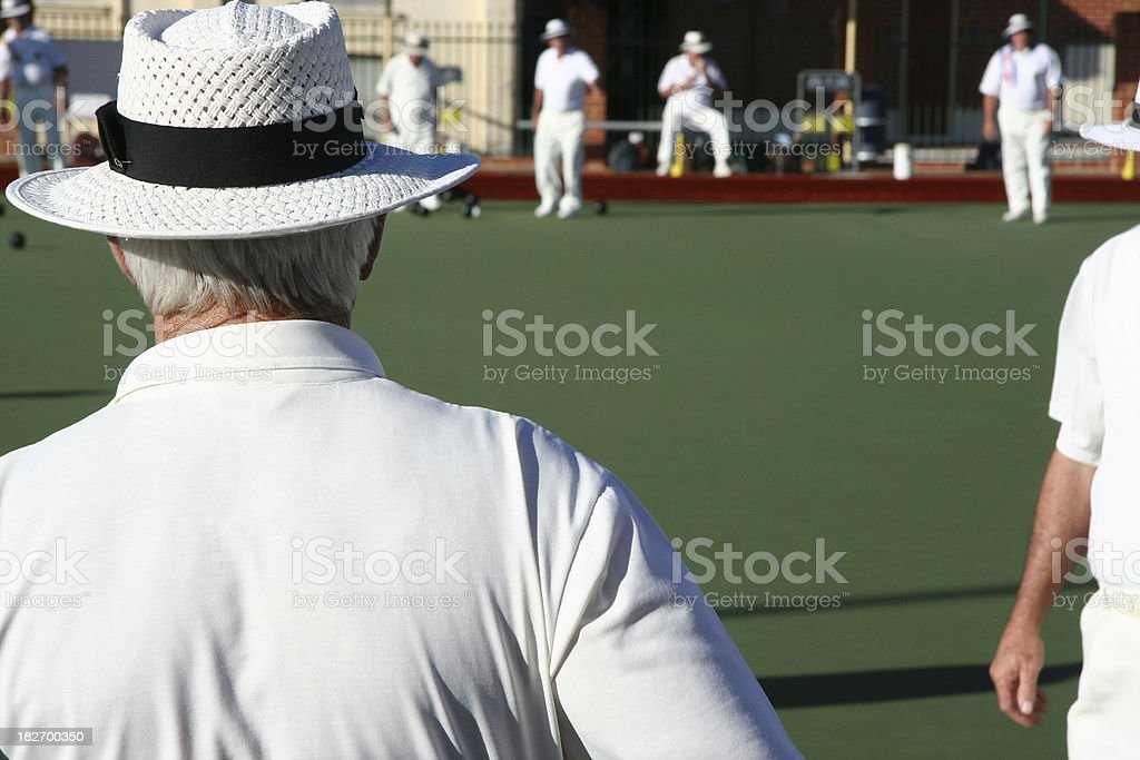 Lawn Bowler stock photo