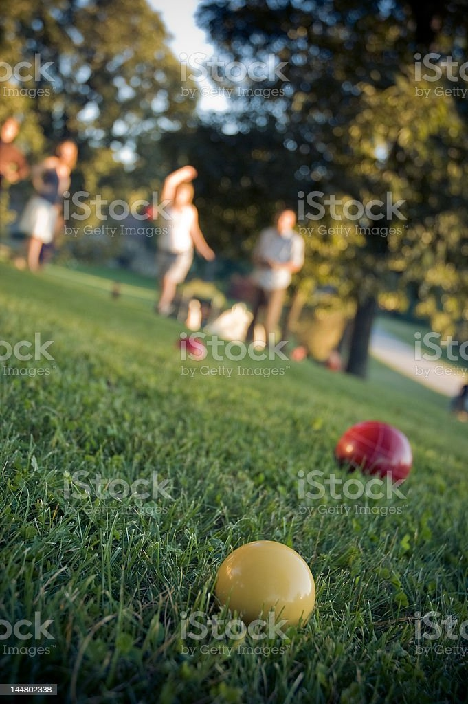 Lawn Bowling - Bocce Ball stock photo