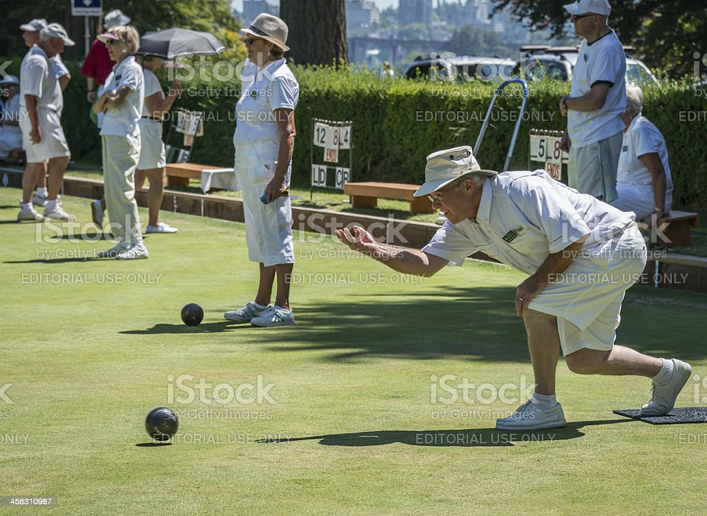 Lawn Bowling stock photo