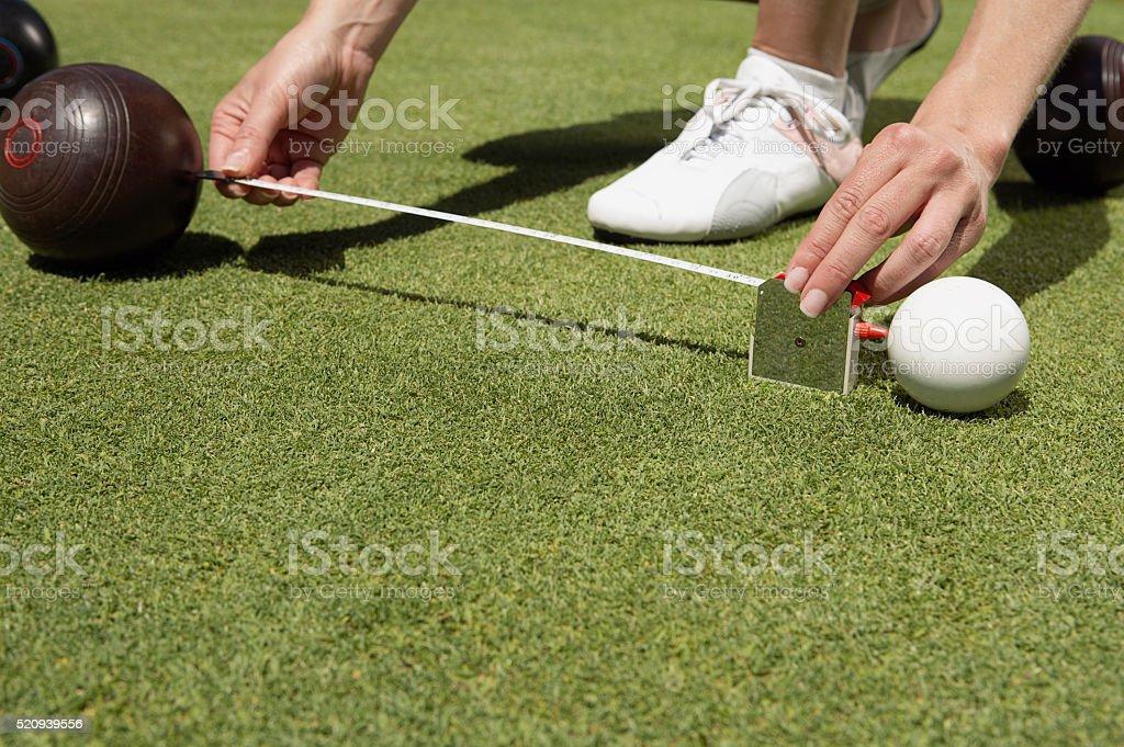Lawn bowling stock photo