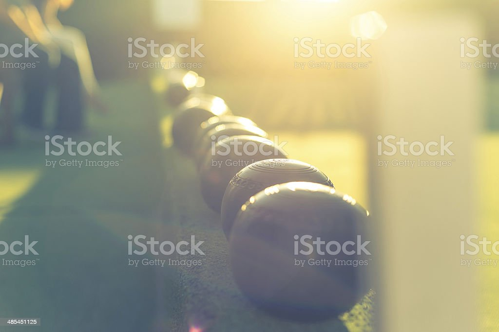 Lawn Bowls royalty-free stock photo