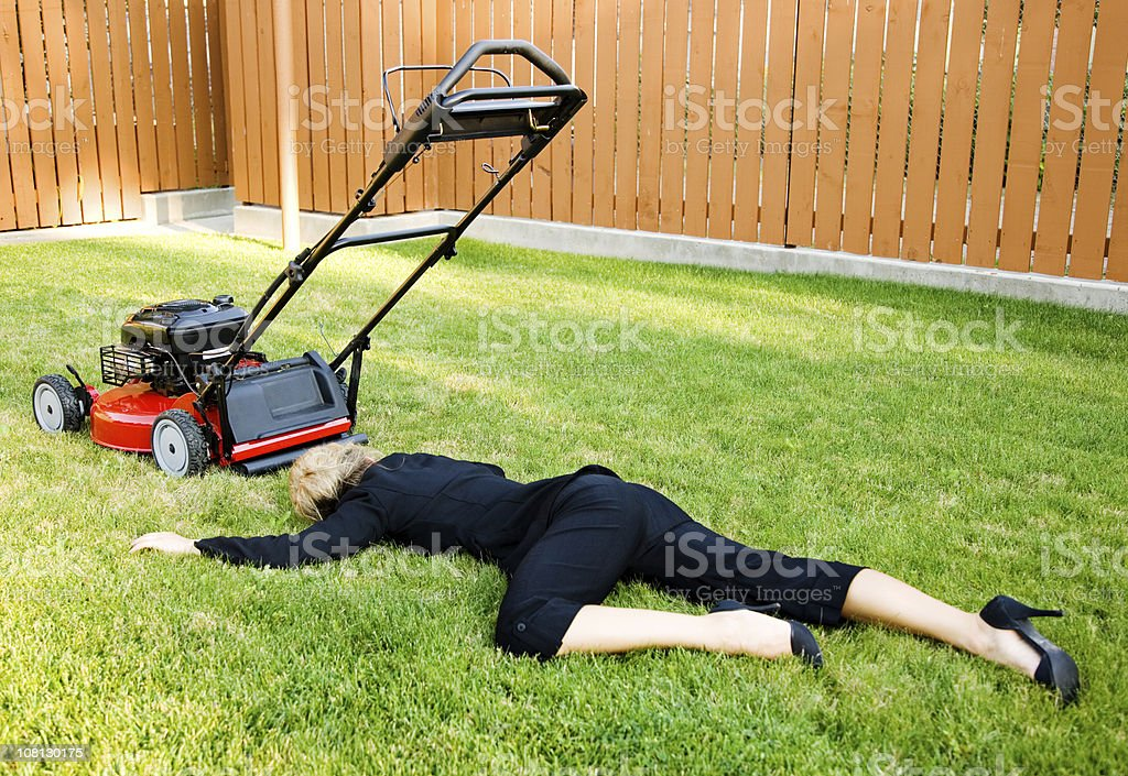 Lawn Business stock photo
