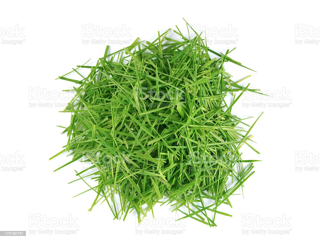 Lawn clippings stock photo