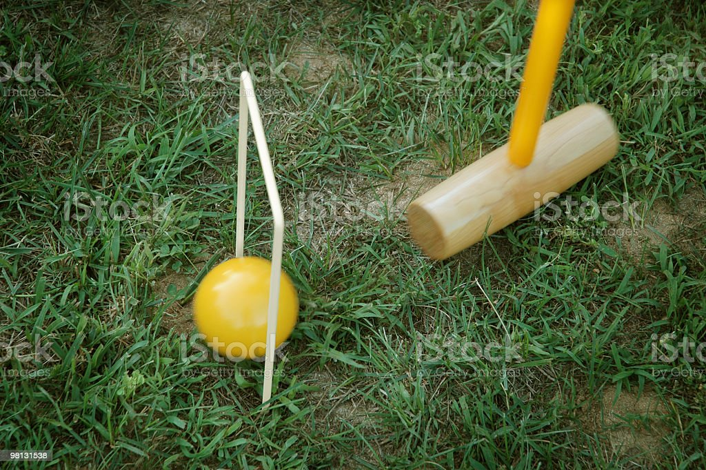Lawn Croquet royalty-free stock photo
